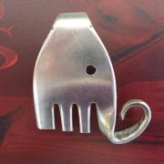 Besteck Schmuck Anhänger Elefant silber Gabel Löffel Art Deko WMF BSF OKA Wilkens R&B Wellner gefertigt von Marion Heine Soulous Art