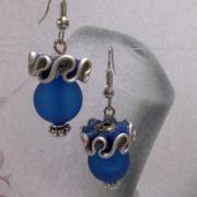 04 Ohrhänger Oriental blau Nespresso Vivalto Lungo upcycling Alu Kapsel leer Aluminium Schmuck gefertigt von Marion Heine Soulous Art