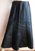 Rock Maxirock Reißverschluß Damen schwarz silber L Large echt Leder Ösen Nieten Schnallen Karabiner Mittelalter Larp Fantasy Rollenspiel Gothic Steampunk BDSM Fetisch sexy Kleidung gefertigt von Marion Heine Soulous Art