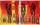*Africa* Größe 40 x 50 cm – 2 Bilder als Set Leinwand gemalt orange schwarz braun rot gelb gefertigt von Marion Heine Soulous Art