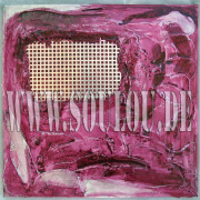 *Violett Prison I*  Größe 40 x 40 cm – 2 Bilder als Set Leinwand gespachtelt + Metallgitter pink violett gefertigt von Marion Heine Soulous Art