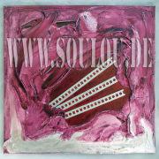 *Violett Prison II*  Größe 40 x 40 cm – 2 Bilder als Set Leinwand gespachtelt + Metallgitter pink violett gefertigt von Marion Heine Soulous Art