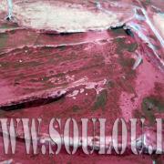 *Violett Prison*  Größe 40 x 40 cm – 2 Bilder als Set Leinwand gespachtelt + Metallgitter Detail pink violett gefertigt von Marion Heine Soulous Art