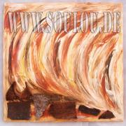 *Wood* 1 Größe 50 x 50 cm – 2 Bilder als Set Leinwand gespachtelt + Rinde hellbraun dunkelbraun gefertigt von Marion Heine Soulous Art