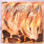 *Wood* 2 Größe 50 x 50 cm – 2 Bilder als Set Leinwand gespachtelt + Rinde hellbraun dunkelbraun gefertigt von Marion Heine Soulous Art