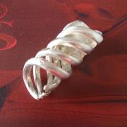 03 Besteck Schmuck Anhänger Spirale Gabel Löffel silber Art Deko WMF BSF OKA Wilkens R&B Wellner gefertigt von Marion Heine Soulous Art
