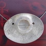 12 Besteck Schmuck Anhänger ovaler Kreis Collier Gabel Löffel silber Art Deko WMF BSF OKA Wilkens R&B Wellner gefertigt von Marion Heine Soulous Art