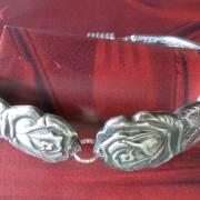 01 Besteck Schmuck Armband Gabel Kuchengabel silber Löffel Kaffeelöffel Magnet Art Deko WMF BSF OKA Wilkens R&B Wellner gefertigt von Marion Heine Soulous Art