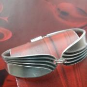 18 Besteck Schmuck Armband  Gabel Endstücke silber Löffel Kaffeelöffel Magnet Art Deko WMF BSF OKA Wilkens R&B Wellner gefertigt von Marion Heine Soulous Art