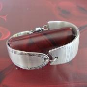 16 Besteck Schmuck Armband Gabel Kuchengabel silber Löffel Kaffeelöffel Magnet Art Deko WMF BSF OKA Wilkens R&B Wellner gefertigt von Marion Heine Soulous Art