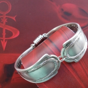 17 Besteck Schmuck Armband  Gabel Endstücke silber Löffel Kaffeelöffel Magnet Art Deko WMF BSF OKA Wilkens R&B Wellner gefertigt von Marion Heine Soulous Art
