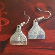 14 Besteck Schmuck Ohrhänger Ohring Rose Kuchengabel silber Art Deko WMF BSF OKA Wilkens R&B Wellner gefertigt von Marion Heine Soulous Art
