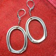 06 Besteck Schmuck Ohrhänger Ohring Ring oval schlicht Gabel Kaffee Löffel silber Art Deko WMF BSF OKA Wilkens R&B Wellner gefertigt von Marion Heine Soulous Art