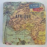 Untersetzer Modell Africa 1 von 2-er Set Natursteinfliesen Fliese Fliesenspiegel Servietten-Technik Wunschmotiv gefertigt von Marion Heine Soulous Art