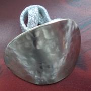 05 Besteck Schmuck Haargummi Gabel Löffel silber Hammerschlag Art Deko WMF BSF OKA Wilkens R&B Wellner gefertigt von Marion Heine Soulous Art