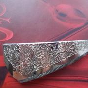 12 Besteck Schmuck Haarspange Head Tortenheber silber Hammerschlag Art Deko WMF BSF OKA Wilkens R&B Wellner gefertigt von Marion Heine Soulous Art