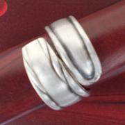 04 Besteck Schmuck Ring Gabel Kuchengabel Kaffeelöffel silber Löffel Art Deko WMF BSF OKA Wilkens R&B Wellner gefertigt von Marion Heine Soulous Art