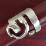 05 Besteck Schmuck Ring Gabel Kuchengabel Kaffeelöffel silber Löffel Art Deko WMF BSF OKA Wilkens R&B Wellner gefertigt von Marion Heine Soulous Art