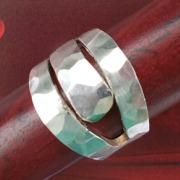 27 Besteck Schmuck Ring Fleischgabel Art Deko WMF BSF OKA Wilkens R&B Wellner gefertigt von Marion Heine Soulous Art