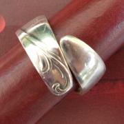 14 Besteck Schmuck Ring Gabel Kuchengabel Kaffeelöffel silber Löffel Art Deko WMF BSF OKA Wilkens R&B Wellner gefertigt von Marion Heine Soulous Art