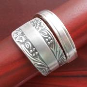 23 Besteck Schmuck Ring Kuchengabelende Art Deko WMF BSF OKA Wilkens R&B Wellner gefertigt von Marion Heine Soulous Art