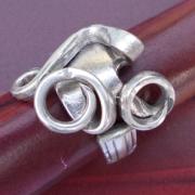 15 Besteck Schmuck Ring Gabel Kuchengabel Kaffeelöffel silber Löffel Art Deko WMF BSF OKA Wilkens R&B Wellner gefertigt von Marion Heine Soulous Art