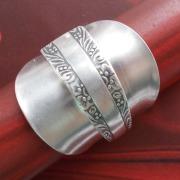 24 Besteck Schmuck Ring Mokkalöffel Art Deko WMF BSF OKA Wilkens R&B Wellner gefertigt von Marion Heine Soulous Art