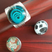 25 Besteck Schmuck Ring Löffelendeende Druckknopf wechselbar 3 Chunks Art Deko WMF BSF OKA Wilkens R&B Wellner gefertigt von Marion Heine Soulous Art