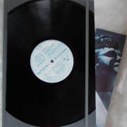 05 Elton John Notizbuch Tagebuch Kladde SchallplatteMusik grau Leinenkladde A4, 80 Blatt blanko weiß Gummi Langspielplatte LP Frontcover Lesezeichen Pattencover gefertigt von Marion Heine Soulous Art