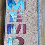 10 Memo Notizbuch Tagebuch Kladde Kork grau Leinenkladde A4, 80 Blatt blanko weiß Gummi Kork Naturprodukt gefertigt von Marion Heine Soulous Art