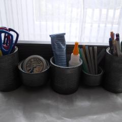 10 Mini-Regal silber Organizer Aufbewahrung Dekoration Holz Blechdose Konserve Upcycling gefertigt von Marion Heine Soulous Art
