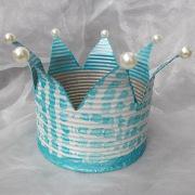 03 Blechdose Konservendose Blumentopf Übertopf Kerzenständer Schale lackiert Krone türkis gefertigt von Marion Heine Soulous Art