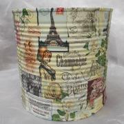 05 Blechdose Konservendose Blumentopf Übertopf Tischeimer bunt Serviettentechnik Paris gefertigt von Marion Heine Soulous Art