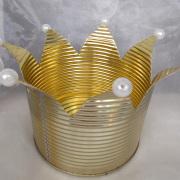 10 Blechdose Konservendose Blumentopf Übertopf Kerzenständer Schale lackiert Krone gold gefertigt von Marion Heine Soulous Art
