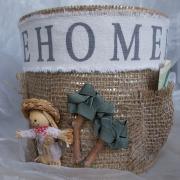 15 Blechdose Konservendose Blumentopf Übertopf Geldgeschenk - Tasche Tischeimer beklebt Jute made gefertigt von Marion Heine Soulous Art