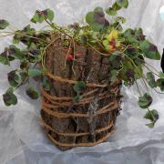 18 * Eiche Übertopf Blechdose Konservendose Blumentopf Tischeimer echte Rinde Natur pur gefertigt von Marion Heine Soulous Art