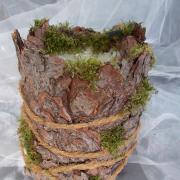 19 * Fichte Übertopf Blechdose Konservendose Blumentopf Tischeimer echte Rinde Natur pur gefertigt von Marion Heine Soulous Art