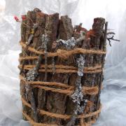 20 * Eiche Übertopf Blechdose Konservendose Blumentopf Tischeimer echte Rinde Natur pur gefertigt von Marion Heine Soulous Art