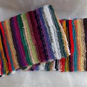 Schal *Kunterbunt* aus Wollresten 01-1 gestrickt Mohair Baumwolle Angora gemischte Wolle Acryl Polyacryl gefertigt von Marion Heine Soulous Art