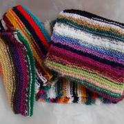 Schal *Kunterbunt* aus Wollresten 02-1 gestrickt bunt Mohair Baumwolle Angora gemischte Wolle Acryl Polyacryl gefertigt von Marion Heine Soulous Art