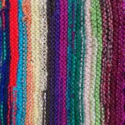Schal *Kunterbunt* aus Wollresten 02-2 gestrickt bunt Mohair Baumwolle Angora gemischte Wolle Acryl Polyacryl gefertigt von Marion Heine Soulous Art