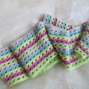 Schal *Pastell* reine Baumwolle gehäkelt gefertigt von Marion Heine Soulous Art