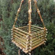 Bambuskörbchen Blumenschaukel Blumenampel Hängekorb ohne Deko made by Soulous Art