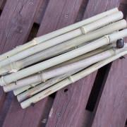 Bambusmatte Topfuntersetzer Dekobrett Untersetzer mit Holzperle mittel gerollt made by Soulous Art