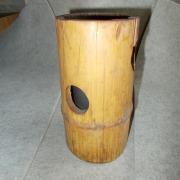 Bambus- Licht Laterne Kerzenhalter für Teelicht mit Milchglaseinsatz Variante 1 made by Soulous Art