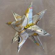 Weihnachtsstern Metallstern Dekostern Stern aus einer Blechdose Warsteiner made by Soulous Art