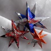Weihnachtsstern Metallstern Dekostern Stern aus einer Blechdose Red Bull Havanna Club Hugo Spritz made by Soulous Art