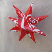 Weihnachtsstern Metallstern Dekostern Stern aus einer Blechdose Coca-Cola made by Soulous Art