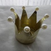 Dekokrone Krone aus einer Konservendose als Kerzenhalter Teelicht Gold made by Soulous Art