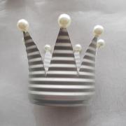 Dekokrone Krone aus einer Konservendose als Kerzenhalter Teelicht Alu made by Soulous Art